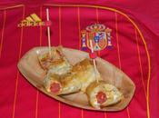 Taquitos hojaldre, rellenos queso gouda chistorra