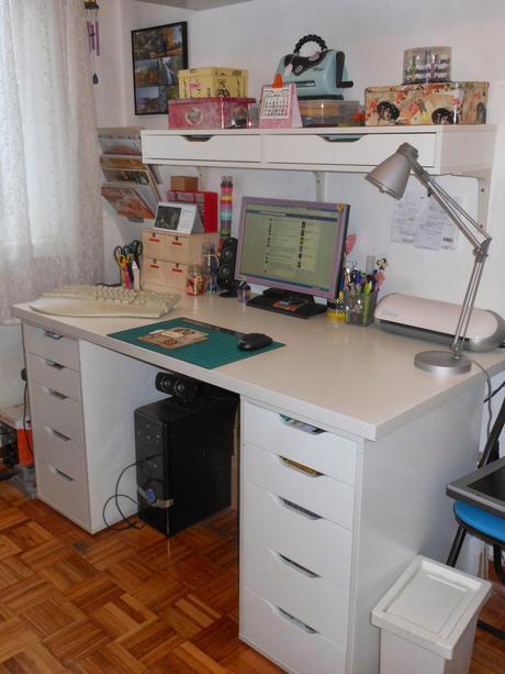 Organizaci n mi nuevo scraproom paperblog - Mesa de oficina ikea ...