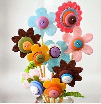 Moldes y diseños de flores en fieltro   paperblog
