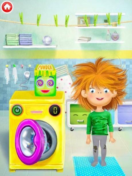 Juegos De Ir Al Baño A Hacer Popo:En la lavadora podrás meter la ropa sucia, echar el detergente y