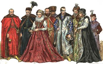 English: Polish magnates 1576-1586