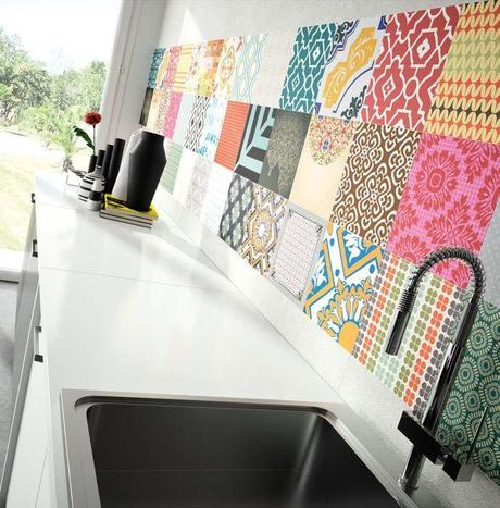 Tendencias en los azulejos y suelo para la cocina paperblog for Azulejos hidraulicos cocina