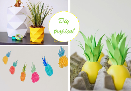 Tres tutoriales para decorar con pi as tropicales paperblog - Decoracion con pinas ...