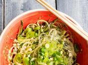 Espaguetis calabacín pesto Thai...y Londres!