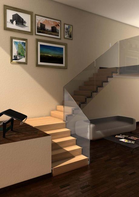 Ideas para el revestimiento de escaleras dale ese toque for Revestimiento madera interior