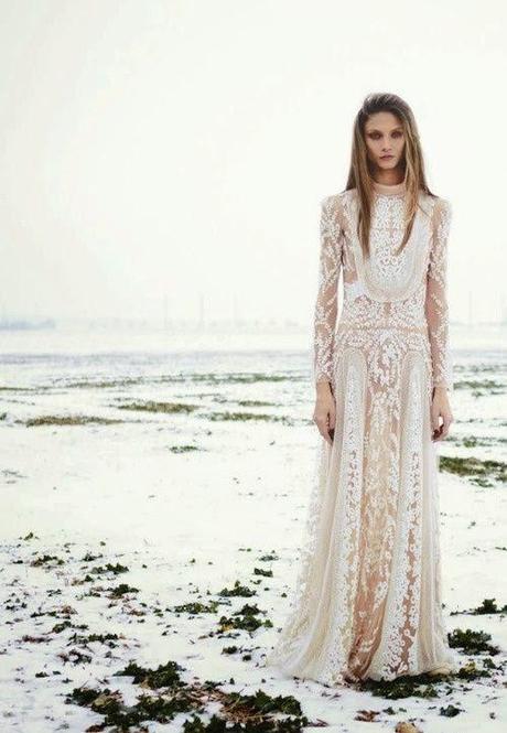 Vestido de boda estilo bohemio