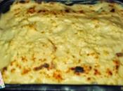 Coliflor gratinada jamón