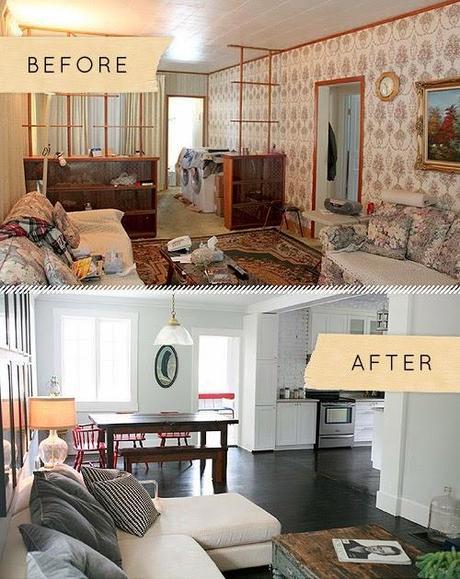 Antes y despu s el cambio de una casa antigua a otra - Decoracion de casas antes y despues ...