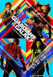 Póster IMAX de Guardianes de la Galaxia