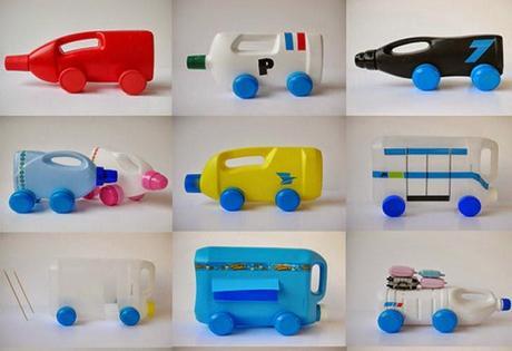 Juguetes con botellas de pl stico reciclado paperblog for Juguetes de plastico