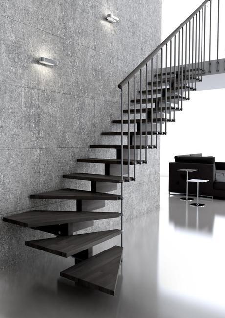 5 modelos de escaleras para interior funcionales y de for Tipos de escaleras exteriores