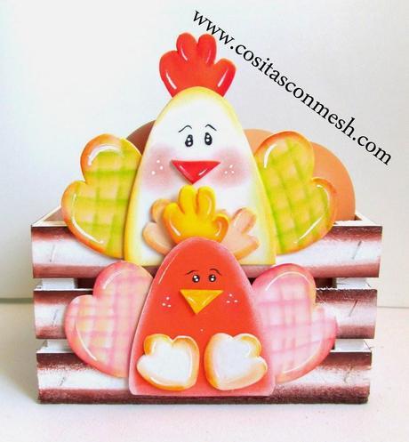 Cajita para los huevos de la cocina manualidades paperblog - La cajita manualidades ...