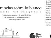 Inauguración exposición internacional Diferencias sobre blanco Casa Galería