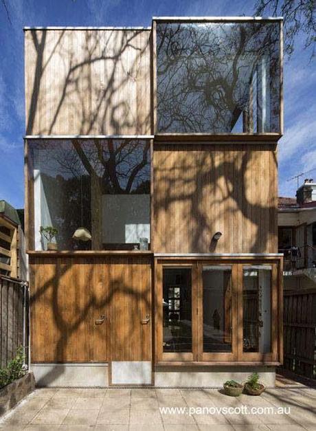Casa victoriana reformada con fachada contemporánea en Australia