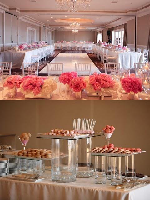 decoración mesas boda: blanco y rosa - paperblog