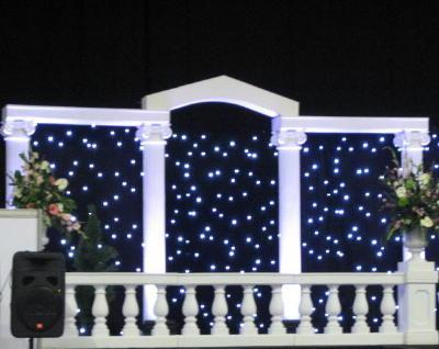 como iluminar y decorar una boda