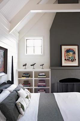 Dormitorio en blanco y gris paperblog for Dormitorios pintados en gris