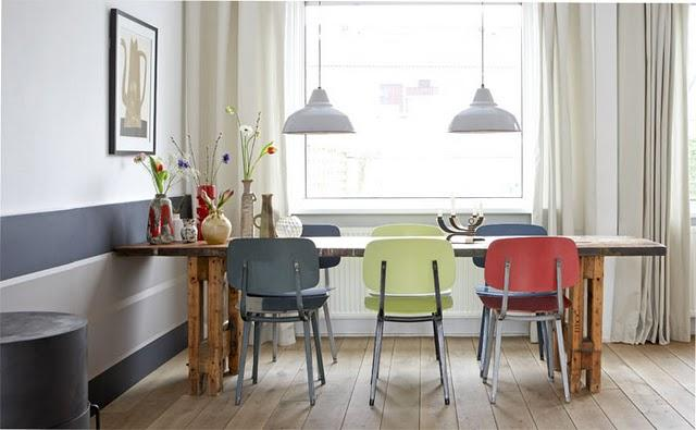 sillas de colores para el comedor paperblog