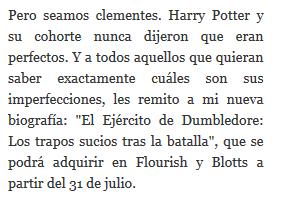 Nuevo libro/relato sobre Harry Potter el 31 de julio