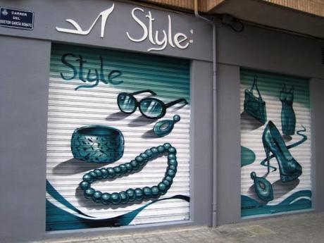 Graffiti persiana en tienda Style Valencia