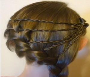 trenza diagonal francesa peinados de princesa