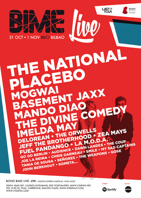 BIME Live 2014: The Divine Comedy, The National, Mogwai, Placebo, Mando Diao...
