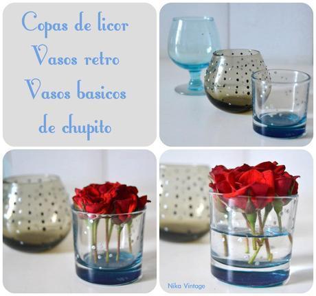 flores, cristal, bouquet, bouquets, vaso, vasos, copa, licor, diy, hazlo tu mismo, ambar, decoracion mesas, rosas, florero, violetero, antiguo