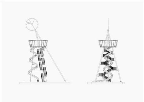 Vitra Slide Tower boceto 2