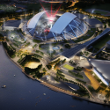 Singapore SportsHub / DPArchitects Rendering 12