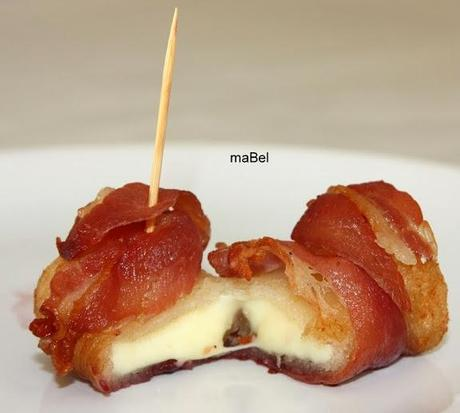 Tapa de queso y bacon