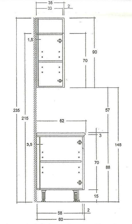 Las medidas de los muebles de cocina paperblog for Medidas de cocina