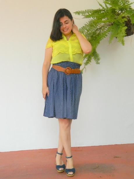 Zara Neon Lace Blouse 35