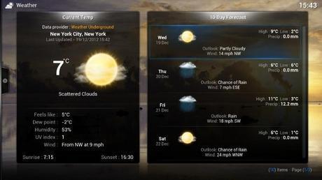 Screen Weather Underground en XBMC