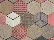 Wallpapering tiles: Dear Human crea empapelado papel reciclado cerámica