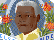 Bonito homenaje Google Nelson Mandela #doodleMANDELA