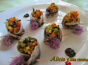 Sardinas maceradas rellenas verdura