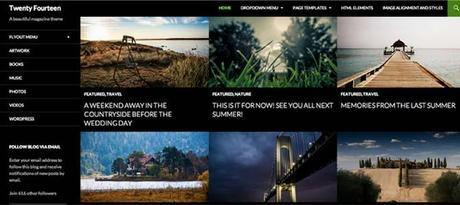 Twenty Fourteen Responsive Web Theme WordPress