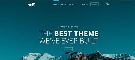 One Responsive Web Theme WordPress