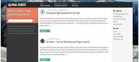 Alpha Forte Responsive Web Theme WordPress