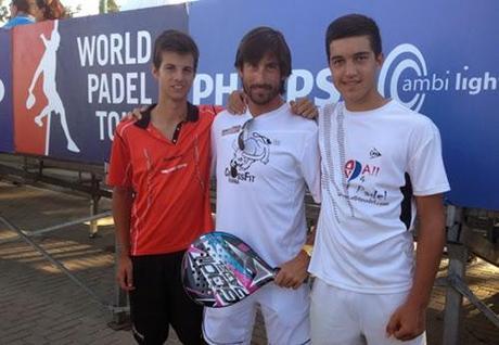 Jose Carlos Gaspar y Momo González en el World Padel Tour Málaga