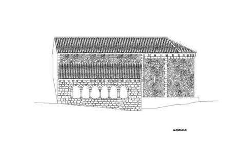Alzado Sur de la Ermita. Fuente: www.romanicodigital.com