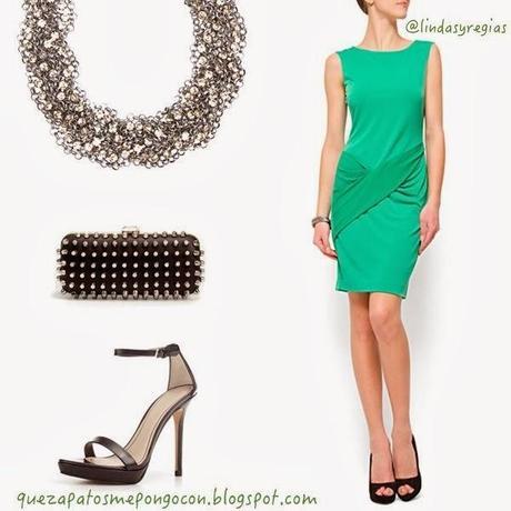 Vestido Verde Agua Con Que Color De Zapatos Combina - Varios Zapatos