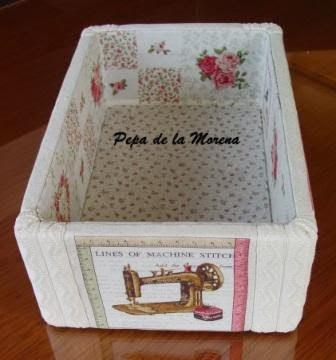 Patchwork sin aguja y cajas decoradas