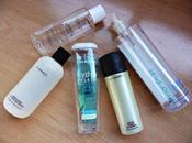 Productos acabados Agua micelar D´Orleac, Etar Pur, Hydra Vegetal Yves Rocher, Green cleanser (gel jabón para rostro) Brush (limpiabrochas)