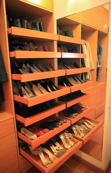 Zapatera ideal para un closet pequeño - Diseño - Paperblog