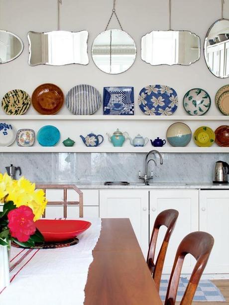 Decoraci n en la cocina platos decorados en la pared for Cocina 1 plato
