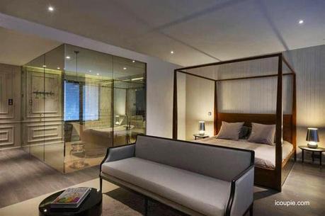Modernos ba os integrados al dormitorio paperblog for Banos abiertos a la habitacion