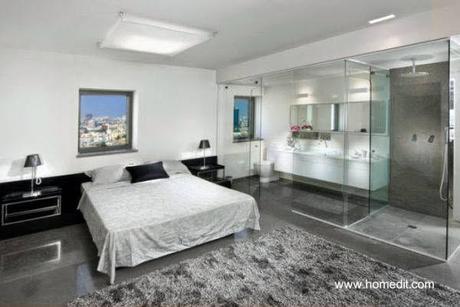Modernos ba os integrados al dormitorio paperblog - Dormitorio con bano ...