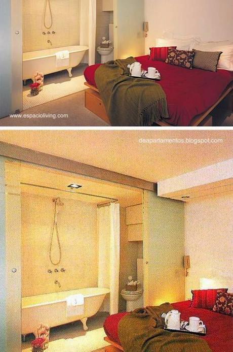 Baño Vestidor Minimalista:Modernos baños integrados al dormitorio – Paperblog