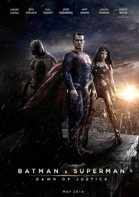 'BATMAN V SUPERMAN: DAWN OF JUSTICE': FANTÁSTICO FAN-MADE PÓSTER CON BATMAN, SUPERMAN Y WONDER WOMAN